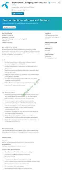 Telenor Jobs Latest Advertisement Apply Online February 2017