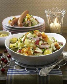 Cremiger Kartoffelsalat mit Würstchen