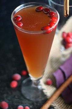 Spiced Cranberry Rum Fizz #CaptainsTable by www.girlichef.com (using @Captain Morgan Black Spiced Rum)
