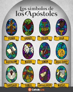 Catholic quotes, infographics, memes and more resources for the New Evangelization. Infographic: The Symbols Of The Apostles. Catholic Prayers, Catholic Catechism, Catholic Crafts, Catholic Kids, Catholic Quotes, Roman Catholic, Religion Catolica, Catholic Religion, Apostles Creed