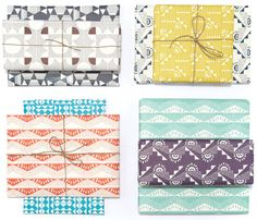 Graphic gift wrap collection from Esme Winter. #graphic #design