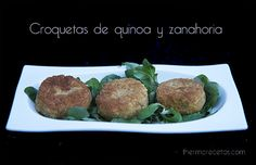 croquetas-quinoa Sugar Free Recipes, Veg Recipes, Vegetarian Recipes, Candida Diet, Greens Recipe, Baked Potato, Veggies, Beef, Healthy