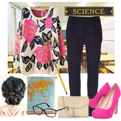 School Teacher by songofwisdom4800 on Polyvore featuring MOTHER, Miss KG, Express and Tom Ford