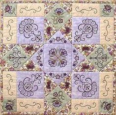Angies Machine Embroidery Embellace quilt