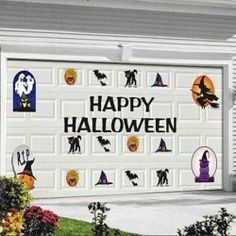 Purchase Unique Imports Halloween Garage Door Magnets Large Reusable Weather Resistant Outdoor Indoor Magnets at Discounted Prices ✓ FREE DELIVERY possible on eligible purchases. Halloween Food Crafts, Halloween Letters, Halloween Party Games, Halloween Goodies, Happy Halloween, Halloween Decorations, Fall Decorations, Halloween Garage Door, Diy Garage Door