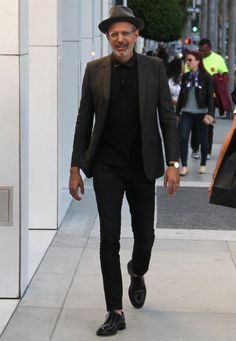 Jeff Goldblum walking down Rodeo Drive, 9 March 2016