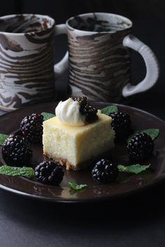 ROE Caviar on Homemade Cheesecake.