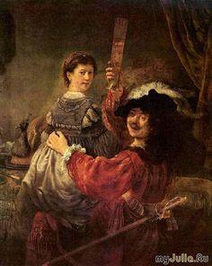 рембрандт автопортрет с саскией на коленях \