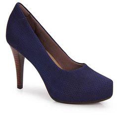 Sapato Scarpin Conforto Feminino Usaflex By Perfetto - Azul