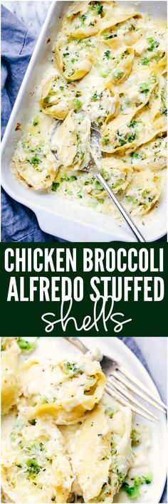 Chicken Broccoli Garlic Alfredo Shells are stuffed with tender chicken, cheese, broccoli, and homemade alfredo sauce. These shells are creamy, cheesy and out of this world delicious!