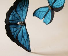 Soft Sculpture Blue Morpho Butterfly Brooch and Ornament, €42.00 by BlueTerracotta