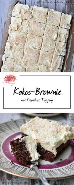 Kokos-Brownie | Kuchen | Rezept | Backen