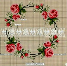 Lovely heart tricks: Cross Stitch: Roses in style Shabby-chic . and not only (collection schemes) Cross Stitch Pillow, Cross Stitch Rose, Cross Stitch Borders, Cross Stitch Flowers, Counted Cross Stitch Patterns, Cross Stitch Charts, Cross Stitch Designs, Cross Stitching, Cross Stitch Embroidery