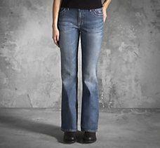 Genuine Harley-Davidson ladies bootcut jeans