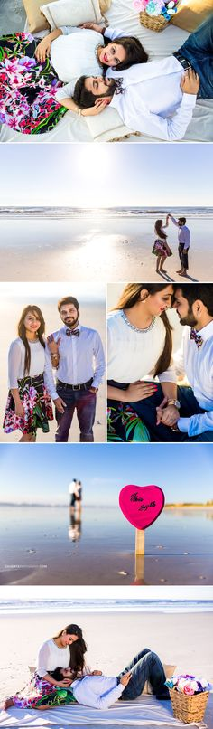 Pre Wedding Photography Inspiration | Jacksonville Best Beach Styled Photographer | Picnic Setup | So elegant | Cute poses for beach photo shoot | Skirt and bow tie | Wedmegood