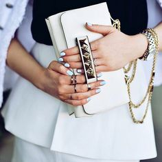 Valentino studded clutch