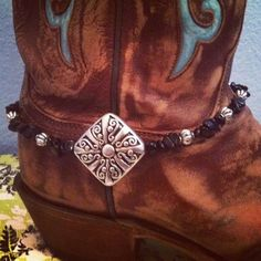 Boot Bling/Boot Candy/Boot Jewelry Black Beads Super Cute. $15.00, via Etsy.