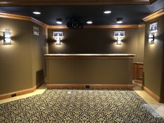 Stunning custom home theater built in a small space. DH Custom Homes, Chesterfield, MO