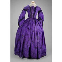 fashionsfromhistory:  Going Away Dress 1850s Scottish Aberdeen Art Gallery