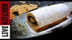 Αφράτο ρολό σοκολάτας - κορμός σοκολάτας - Chocolate cake roll - Live Ki...