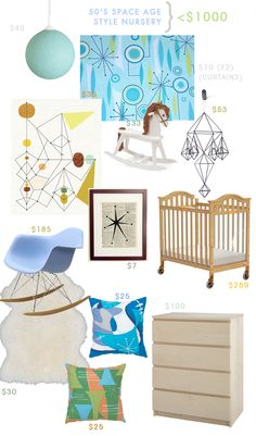 Rooms < $1000: Space Age Style Nursery