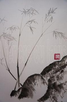 Bambous fins 24x30