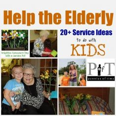 Service Projects for Kids: Service Projects to Help the Elderly, Ideas to do with KIDS - Pennies Of Time: Teaching Kids to Serve Service Projects For Kids, Community Service Projects, Service Ideas, Service Club, Teen Projects, Sewing Projects, Helping The Elderly, Helping Others, Helping Children