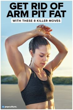Get Rid of Flabby Armpit Fat Fast with These 8 Moves for the Fleshy Part between Your Chest and Arm. At home workout for women. Arm Fat Exercises, Toning Workouts, Easy Workouts, Cellulite Exercises, Workout Routines, Hamstring Exercises, Cellulite Remedies, Fitness Exercises, Workout Plans
