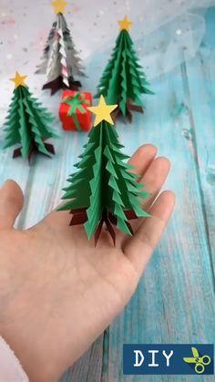 Christmas Origami, Christmas Paper Crafts, Diy Christmas Cards, Paper Crafts For Kids, Christmas Art, Diy Crafts, Beautiful Christmas, Christmas Decoration Crafts, Instruções Origami