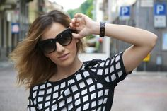 My Style Recipe,  Designer Fashion Oversize Cat Eye Sunglasses 8300