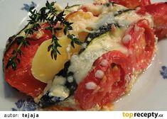 Zapečené cukety s rajčaty recept - TopRecepty.cz Caprese Salad, Bruschetta, Sushi, Ethnic Recipes, Fit, Shape, Insalata Caprese, Sushi Rolls