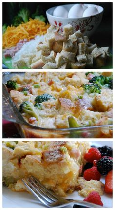 Emeril Lagasse's Breakfast Casserole with Broccoli, Ham, and Cheese