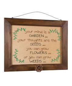 Another great find on #zulily! 'Grow Flowers' Wall Sign by Ohio Wholesale, Inc. #zulilyfinds