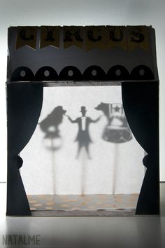 how to make shadow box puppet theater Preschool Groundhog, Groundhog Day, Rainy Day Activities, Infant Activities, Puppet Show Stage, Museum Education, Diy Shadow Box, Shadow Puppets, Diy Cardboard