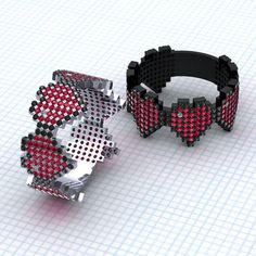 This ring of ruby and black diamond Minecraft hearts.