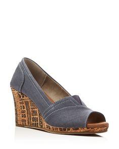 Toms Emma Cork Wedge Sandals