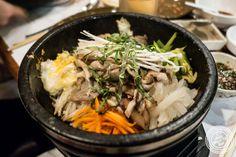 Mushroom Bibimbap at Cho Dang Gol, Korean restaurant in NYC, New York