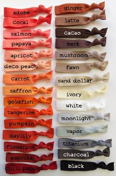 # pigtail Braids outfit Elastic Hair Ties - You Choose 10 Colors - 70 Choices Colour Pallete, Colour Schemes, Color Trends, Color Combos, Color Mixing Chart, Fashion Vocabulary, Color Psychology, Colour Board, Color Shades