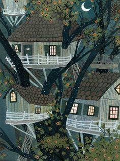 Autumn Treehouses ~ Becca Stadtlander