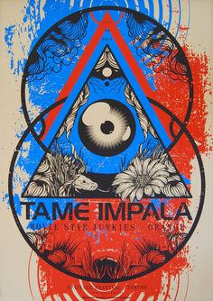 TAME IMPALA Live at Spaziale Festival 2011 Poster by Steuso , via Behance