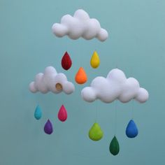 Rainbow cloud mobile from Milkbot and Chooky