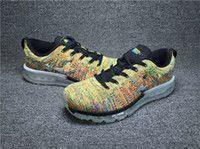 2015 Rainbow Camo #Air cushion #Sneakers #Knit Shoes For men an...