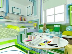 The Little Pilot - room for a boy who loves airplanes #kids, #children, #kidsdesign,