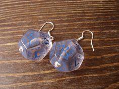 dice elf dice earrings elvish D12 dice rgp larp see by MageStudio