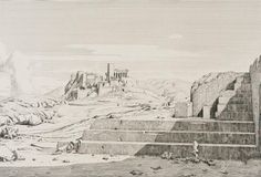 The Acropolis, Athens: The Pnyx, Areopagus, Acropolis and Mount. Flat Stone, Acropolis, Art Institute Of Chicago, Athens, Mount Rushmore, Culture, Artwork, Platform, Painting