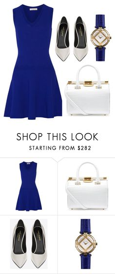 """""""Untitled #329"""" by claireyim ❤ liked on Polyvore featuring Sandro, Tyler Alexandra, Yves Saint Laurent and Shinola"""