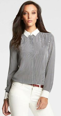 Has Spring Sprung Yet? | Contrast Collar Button Down {Spring 2014 Trend}