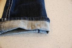 How to hem jeans, Part 2
