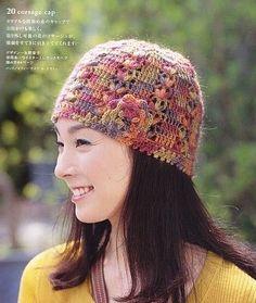 Colorful Flower Hat free crochet graph pattern