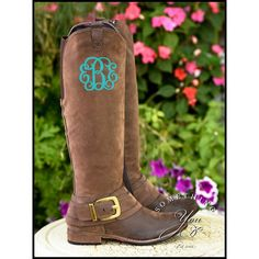 Monogrammed Boots in Pendant Font Personalized Womens Boots Vegan... ($75) ❤ liked on Polyvore featuring shoes, boots, black, women's shoes, black cowboy boots, knee high cowboy boots, black boots, vegan boots and cowgirl boots